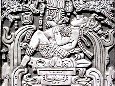 13 Mayan King Pacal Astronaut Plaque Maya Peru Inca